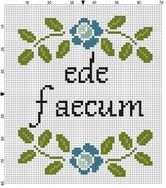 LATIN: Eat sh*t - Funny modern Cross Stitch Pattern - Instant Download
