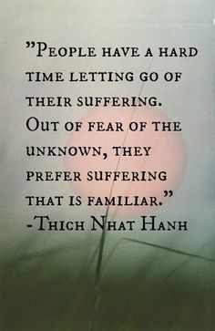 Holding onto suffering is self-inflicted pain. Let it go and you will grow into a person that can help others who have endured the same sufferings you have. Holding onto it keeps you from your future and your purpose in life. There's a purpose in pain.