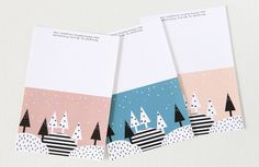 FREE Printable Christmas Cards - Modern, geometric and Scandinavian inspired. Available in pink, peach and teal. Free Printable Christmas Cards, Holiday Cards, Free Poster Printables, Recycled Gifts, Freundlich, Grafik Design, Custom Cards, Easy Gifts, Christmas Crafts