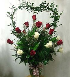 Roses in Heart Tribute (Kendall Bouquet Florist in Kendall, FL) Grave Flowers, Altar Flowers, Cemetery Flowers, Church Flowers, Funeral Flowers, Wedding Flowers, Valentine Flower Arrangements, Funeral Floral Arrangements, White Flower Arrangements