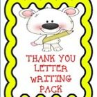 This is a pack of thank you letter pages for you to use with your students.  There are five different pages.  Each page features beautiful borders ...