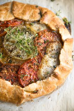 Heirloom Tomato Galette with Honey and Goat Cheese