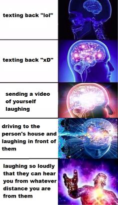 [/r/dankmemes] increasingly intelligent ways of expressing laughter through text