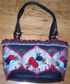 *Mary Frances* Gorgeous Roses Large Handbag/Shoulder Bag #MaryFrances #ShoulderBag