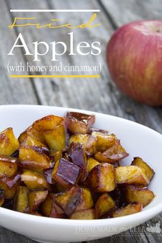 Fried Apples with cinnamon and honey.