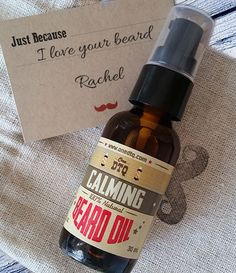 OneDTQ Just Because Beard Care Gift - Calming. Just Because Beard Care Gift is only $15.00 and includes:  1 oz. bottle of Calming Beard Oil. A rugged, linen, mustache stamped pouch. A craft stock Just Because gift card where you can place your personal message.