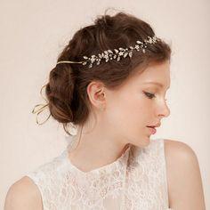 elegant floral rhinestone bridal headpieces EWAHP014
