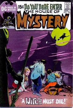 A cover gallery for the comic book House of Mystery Dc Comic Books, Vintage Comic Books, Comic Book Covers, Vintage Comics, Comic Art, Creepy Comics, Horror Comics, A Comics, Story Arc
