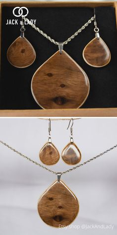 Our jewelry sets for women are handmade from sustainable wood, sourced from around the world. We use veneers to make the necklace and earrings durable. Minimalistic style with very unique wood, every jewelry sets we made is rare, lightweight has a beautiful finish, and is hypoallergenic. Each wooden pendant and earrings are made only with hands, love, and care. This very unique minimalistic style makes for a great wedding ring, birthday gift, anniversary gift, or simply a gift to treat…