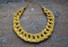 Linen Crocheted Necklace