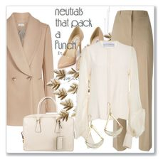 """Cool Neutrals"" by andrejae ❤ liked on Polyvore featuring Prada, Home Decorators Collection, Givenchy, Nly Shoes, Robert Lee Morris, neutrals, polyvoreeditorial and polyvorecontest"