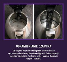 Odkamienianie czajnika jeszcze nigdy nie było takie proste!!! At Home Workout Plan, At Home Workouts, Home Organisation, Organization, Kitchen Aid Mixer, Good Advice, Kitchen Hacks, Homemaking, Clean House