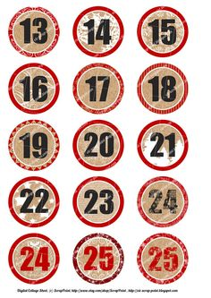 Free Printable Download - Retro Christmas Numbers and Labels ...