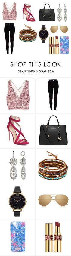 """Clarissa #9"" by inestrindade on Polyvore featuring Alice + Olivia, River Island, Imagine by Vince Camuto, MICHAEL Michael Kors, Givenchy, Chan Luu, Olivia Burton, Linda Farrow, Lilly Pulitzer and Yves Saint Laurent"