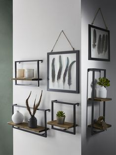 18 wall shelves ideas for your room 00003 New Living Room, Living Room Decor, Cheap Home Decor, Diy Home Decor, Interior Decorating, Interior Design, Living Room Inspiration, Room Decor Bedroom, Wall Shelves