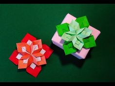 Origami 8 petals flower. Gift box decorating ideas! - YouTube