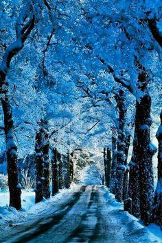 Blue road Stockholm