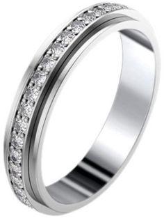 Piaget G34PT4 Platinum Diamonds Wedding Ring Size 7.25 - $3,659.00
