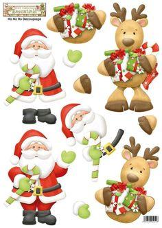 Ho Ho Ho Santa 3D Decoupage