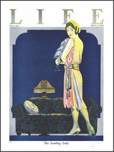 """Coles Phillips : """"The Leading Lady"""", cover art for Life Magazine, 4 May 1922 Life Magazine, Magazine Art, Magazine Design, Magazine Covers, Old Magazines, Vintage Magazines, American Illustration, Illustration Art, Cover Art"""