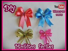 How to make a Easy Ribbon. Diy & Crafts with Mirna Give It To Me, How To Make, Decoupage, Easy Diy, Xmas, Baby Shower, Diy Crafts, Crochet, Flowers