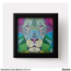 Geometric Lion Head