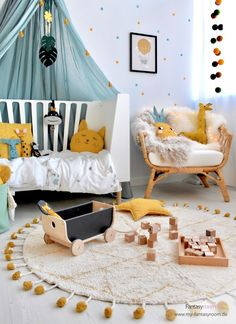 Baby Girl Nursery Decor, Baby Bedroom, Baby Boy Rooms, Nursery Room, Kids Bedroom, Kids Room Design, Nursery Design, Interior Room Decoration, Home Decor