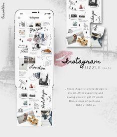 Instagram PUZZLE template -Traveller by CreativeFolks on @creativemarket  #sponsored #sponsored #design #graphicdesign #art #socialmedia #template #graphicassets