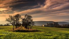 Beckov castle at the sunset - autumn at the Beckov Castle at Slovakia Landscape Photos, Castle, Country Roads, Autumn, Celestial, Sunset, Outdoor, Instagram, Outdoors