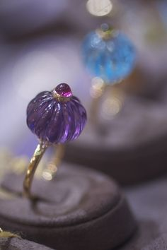 Goshwara amethyst and rubellite ring