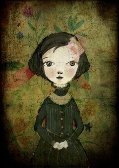 Minerva, Print 4x6. $5.50, via Etsy.  Paola Zakimi