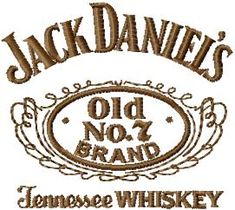 Jack Daniel*s logo machine embroidery design
