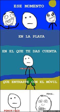 Memes graciosos para facebook: Ese momento en la playa… → #memesdivertidos #memesenespañol #memesparafacebook #Memestumblr #Memeswhatsapp