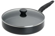 Mirro Get A Grip Nonstick Fry Pan / Saute Pan with Glass Lid Cookware, Black Kitchen Cookware Sets, Kitchen Utensils, Best Wok, Stir Fry Pan, Get A Grip, Bead Storage, Appliance Sale, Fries, Things To Sell