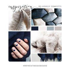 Hey monday, it's time to #mondaymoodboard .. because Who doesn't love mood boards, right? Love this elegant, strong and modern color scheme // Indigo + grey blue + taupe + cream // 🎨 🌊😻  .  Buenas chic@s! Toca empezar la semana con con poco de motivación .. a quien no le gustan los tableros de inspiración? Me encanta esta combinación de colores moderna, elegante y con personalidad // Indigo + azul + topo + crema // 🎨🌊😻  .  #webdesign #mondaymoodboard #inspiration #branding…