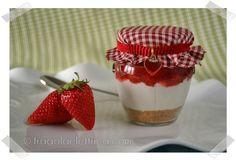 CHEESECAKE DI FRAGOLE IN BARATTOLO fragolaelettrica.com Le ricette di Ennio Zaccariello #Ricetta