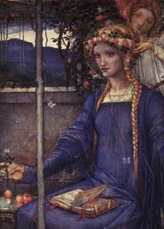 St. Dorothy is a patron saint of gardeners and florists.   Santa Dorotea es  la Patrona  de los gardineros y los Floristas