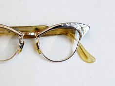 1248560345d vintage CAT EYE glasses   1950s stainless steel etched frame glasses. Etsy.  Peekaboo new sexy big cat eye glasses frames for women brand black silver  ...
