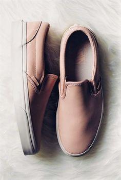 225debf29d Blush or Neutral Colored Slip-On Vans