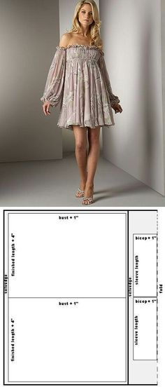 easy off shoulder dress pattern