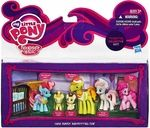 Cake Family Babysitting Fun Manufacturer: Hasbro Series: My Little Pony - Friendship is Magic Release Date: August 2013 For ages: 4 and up UPC: 653569859710 Details (Description): Babysitting adventures will be a ball of fun with the Cake Family Babysitting Fun collection. Your Pound Cake and Pumpkin Cake little pony friends are going to be a handful for your Pinkie Pie figure. Fortunately, shes got Mrs. Dazzle Cake, Mr. Carrot Cake and Nurse Red heart figures to back her up when the fun ...