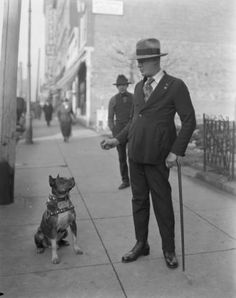 Man and dog, Louisville, Kentucky, 1921. :: Caufield & Shook Collection