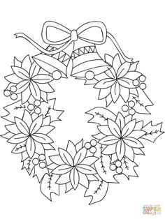 Pretty Picture of Christmas Wreath Coloring Pages . Christmas Wreath Coloring Pages Christmas Wreath Coloring Pages Scbu Christmas Wreath Coloring Page Christmas Coloring Sheets, Printable Christmas Coloring Pages, Free Printable Coloring Pages, Christmas Drawing, Christmas Paintings, Christmas Bows, Christmas Colors, Christmas Pictures To Color, Elegant Christmas