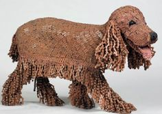Nirit Levav chain dog sculpture, made from recycled Bike Chains