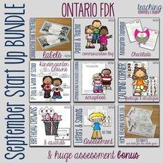 Kindergarten Start Up Bundle & Assessment Bonus for Ontario FDK Guided Reading Strategies, Classroom Management Strategies, Kindergarten Assessment, Kindergarten Curriculum, Primary Activities, Teaching Activities, Classroom Activities, Home Reading Log, Teacher Organization