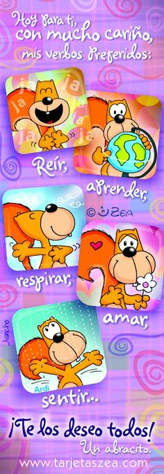 Ardi © ZEA www.tarjetaszea.com Birthday Poems, Birthday Wishes, Happy Birthday Greetings, Good Morning Good Night, Binder Covers, Live Happy, Dory, Special Day, Congratulations