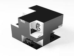 """Cubo Get Up  Cubo Get Up es un stand de expocision tipo """"Custom"""" para la empresa Get Up, que se dedica a la fabricacion de Bolsas y Zapatos de Piel."""