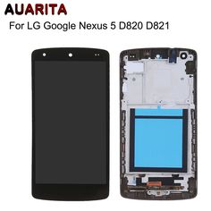 For Lg Google Nexus 5 D820 D821 Lcd Screen Display With Touch Glass Digitizer+frame Assembly Replacement with tools Free ship. Click visit to buy #mobilephoneaccessories