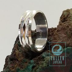 Anillo diamantado o facetado en plata de ley 950 A0-901 #anillo - Taller Joyero confección y diseño de joyas, Joyería online.
