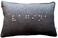 It's Saturday night. You know what you need? A vag on your pillow. #topanswer #pillow #braille #brilliant #lovedecor #touchit #CustomPillows #InjectSomeEdge #Toronto http://www.tebinteriors.com/project/braille-vagina/